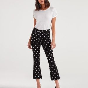 NWT 7 For All Mankind Polka Dot Jeans